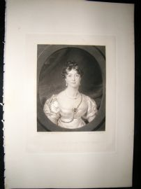 Aft Thomas Lawrence 1841 Folio Mezzotint. Duchess of Gloucester, Pretty Lady